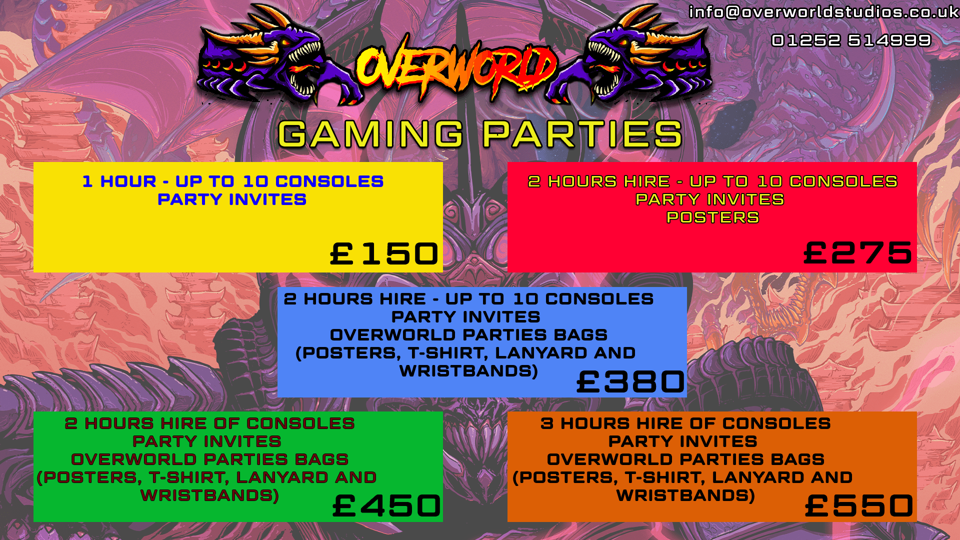 PARTIES AT OVERWORLD!